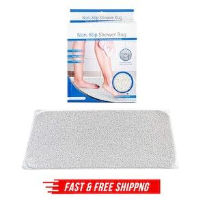 Anti Slip Loofah Shower Rug Non Slip Bathroom Bath Mat Carpet Water Drains
