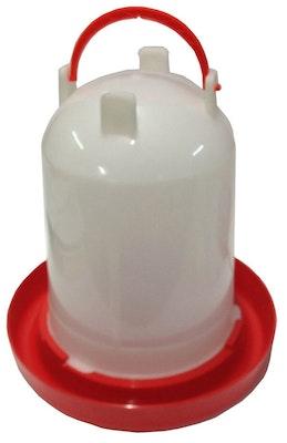 Ipetz Red & White Plastic w/ Handle Bird Drinker - 2 Sizes