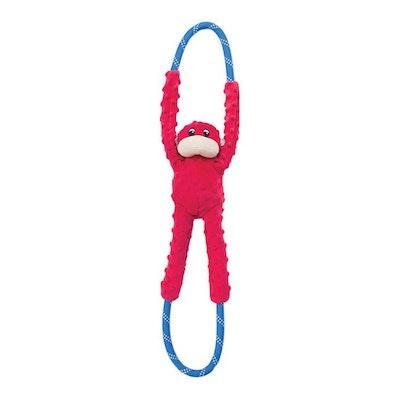 Zippy Paws Ropetugz Monkey Plush Dog Toy Red 71 x 12 x 7cm
