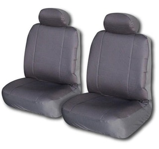 Canvas Seat Covers For Toyota Hilux Fronts 03/2005-2020 Grey Single-Cab