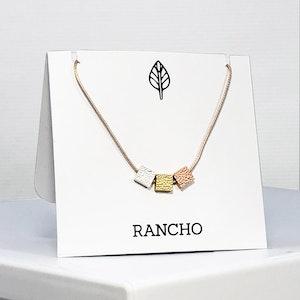 Triple Square Necklace