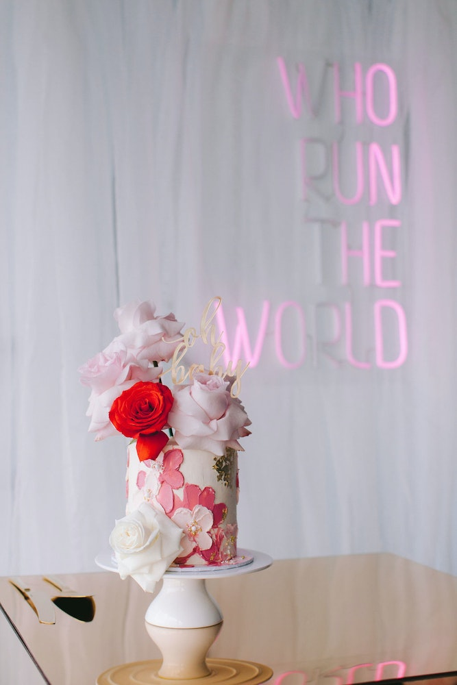 'Who Run The World' baby shower fit for a baby Beyoncè