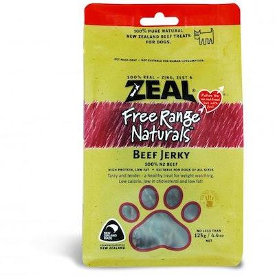ZEAL FRN Zeal Free Range Naturals Beef Jerky Dog Treats 125G