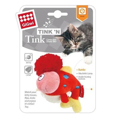 GIGWI Tinkin Fish w/ Bell & Catnip Interactive Cat Toy