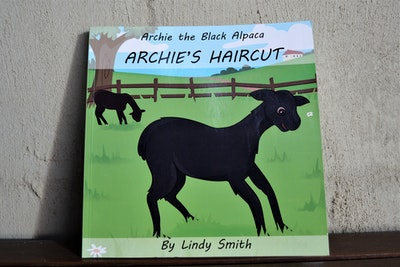 Archie the Black Alpaca: Archie's Haircut - free shipping!