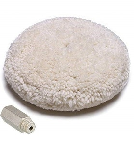 """9"""" Double Sided Wool Buff Pad including 14 x 14mm Adapter"""