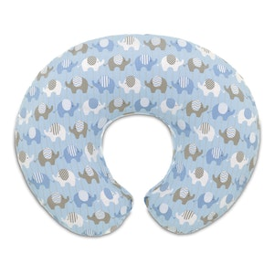 Chicco Blue Elephants Boppy Pillow Slipcover Only