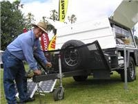Easy going Heaslip camper with stone guard and solar panels