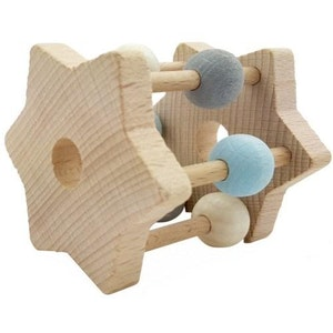 Hess Spielzeug Hess-Spielzeug - Rattle Star Natural Blue