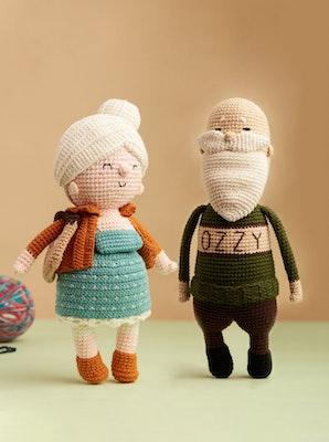 Chippico Australia  Couple Mary & Edward The Grandparents Crochet Stuffed Doll