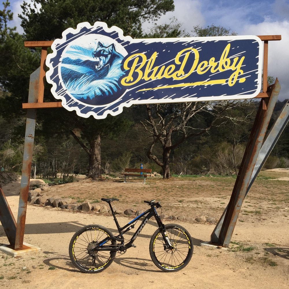Blue Derby Sign 1