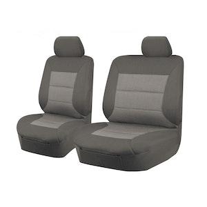 Premium Car Seat Covers For Toyota Landcruiser Vdj70 Series 2007-2020 4X4 Single/Dual Cab | Grey