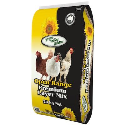 Green Valley Open Range Premium Poultry Layer Mix 20kg