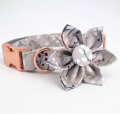 VanityPaws Silver Wishes - Collar & Flower