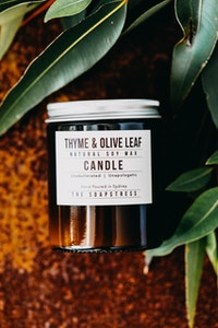 Amber Soy Candle - Thyme & Olive Leaf