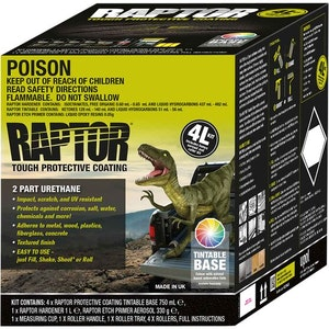 Raptor Bed Liner & Protective Coating 4Lt Tintable Kit (RBL/S4)