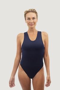 1 People Santorini Crisscross One-Piece Swimsuit in Deep Sea Blue