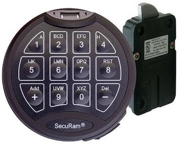 Securam Safelogic digital swing bolt with bio-metric fingerprint reader safe lock complete replacement kit