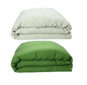 St Barts Stripe Linen Quilt Cover