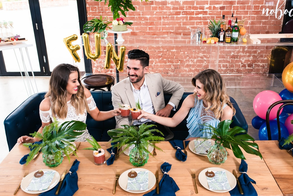 Modern Party Tropical Shoot Dinner Party