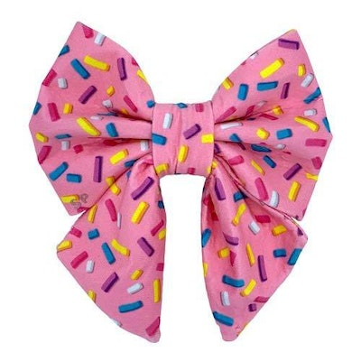 Swanky Paws Pink Sprinkles Sailor Bow