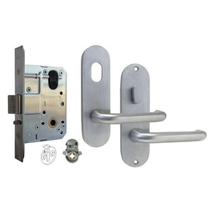 dormakaba MS2 Entrance lock kit set with 100 series round end furniture SCP