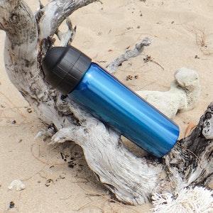 Ecococoon 600ml Drink Bottle - Spill-Free - Topaz Blue