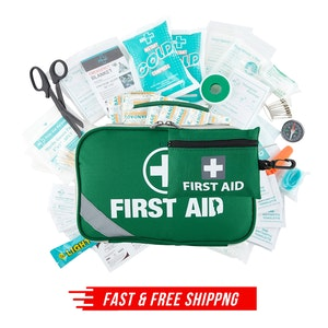 2-in-1 258PCS PREMIUM FIRST AID KIT Medical Travel Set Emergency Family Safety Office