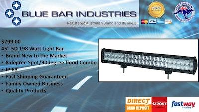 """40"""" 5D 288watt Light Bar 90°/30°/90° Combo Beam"""