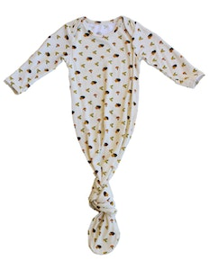 Keep Me Cosy® Bamboo Baby Knotted Gown - Happy Hedgehog