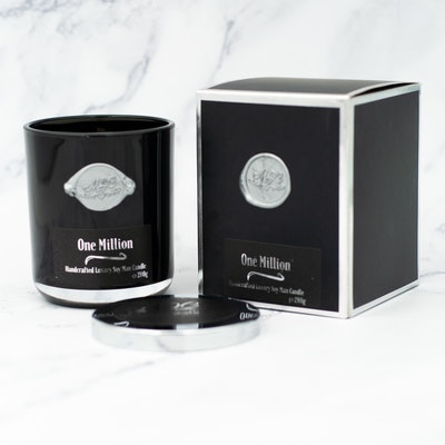 MoeJoe Creations 290g/10.2oz One Million Scented Man Candle in Black Tumbler 2021