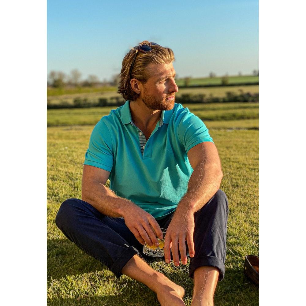 Koy Clothing Turquoise Polo Shirt - Mawimbi