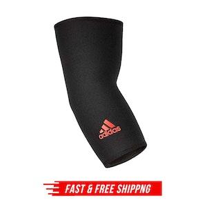 Adidas Elbow Support Arthritis Brace Tennis Golf Gym Strap Guard - Black/Red