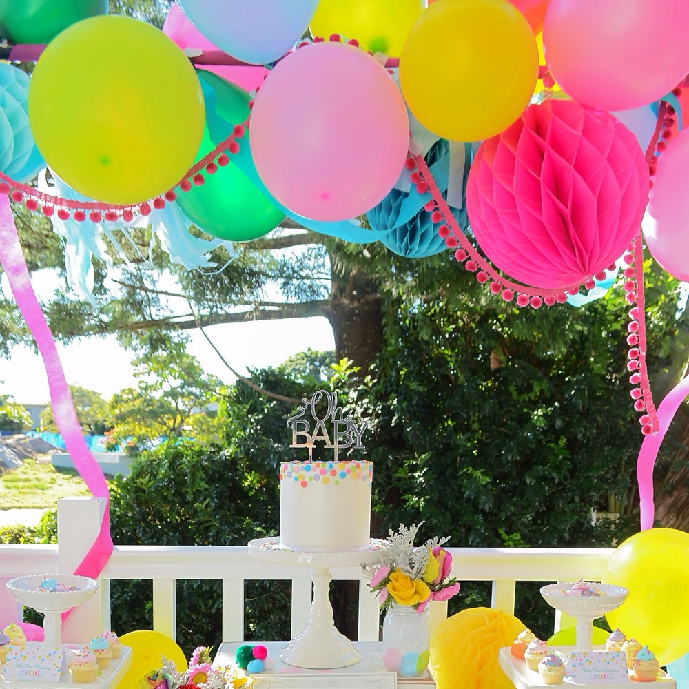 CONFETTI THEMED BABY SHOWER