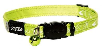 Rogz Collar Safeloc Silkycat Lime