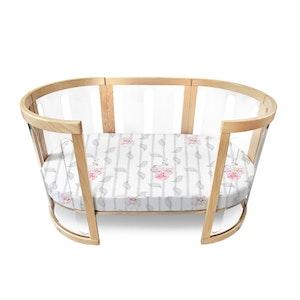 Babyhood Amani Bebe Organic Oval Fitted Sheet (Cot)