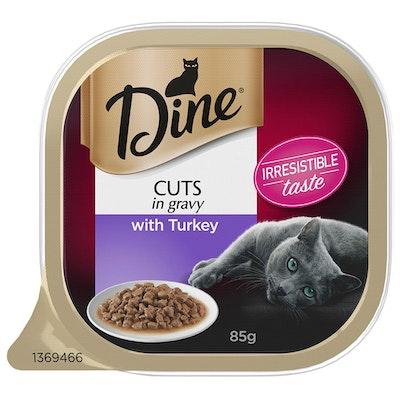 Dine Turkey Cuts with Gravy Cat Food 85g x 14