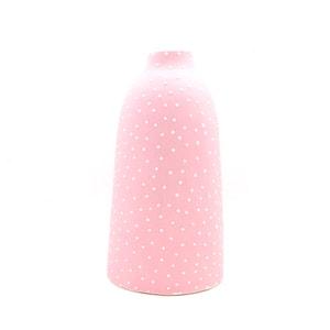 Ceramic Bud Vase - Dotty - Tall - Pink