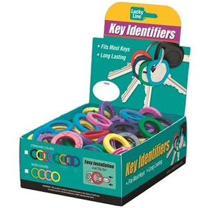 Lucky Line Key Identifiers In Assorted Colours-Box of 200