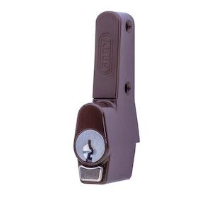 ABUS Sliding Window Push Lock for Sliding Aluminium Windows Vent Lock in Brown