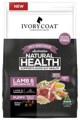 IVORY COAT Wholegrain Dry Dog Food Puppy Large Breed Turkey & Brown Rice 2.5kg