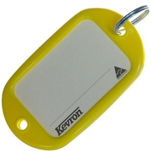 Kevron ID10 Jumbo Motel Key Tag 12 Pack - Yellow