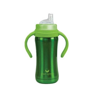 green sprouts Sippy Cup made from Stainless Steel- 6oz-Green-6mo+