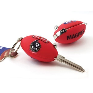 Creative Keys AFL Footy Flip Key Blank with Keyring LW4 – Collingwood Magpies