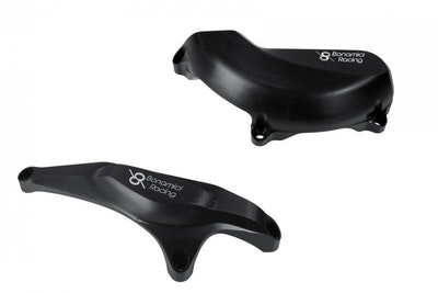 Bonamici Racing Engine Cover Protection Kit To Suit Ducati Panigale 1199/1299 2012-2018 (Black)