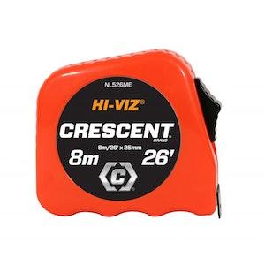 """Tape Measure 8m/26' x 1""""/25mm Hi-Viz NL526ME"""