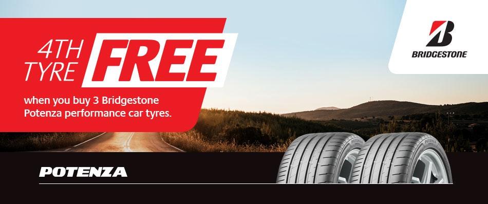 Bridgestone Buy 3 Get 1 Free Promotion Bob Jane T-Marts
