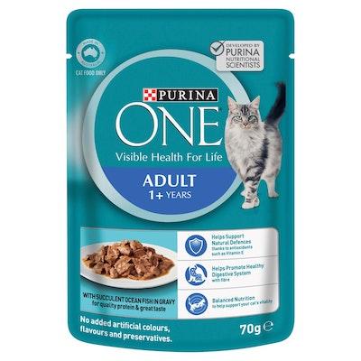 Purina One Adult Ocean Fish Wet Cat Food 70G