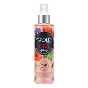 Yardley London Poppy & Violet Moisturising Body Mist Spray Women Fragrance 200ml