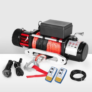 Wireless 14500LBS 12V  Electric Winch Synthetic Rope